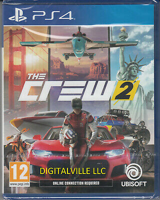 The Crew 2 PS4 PlayStation 4 Brand New Factory Sealed Racing