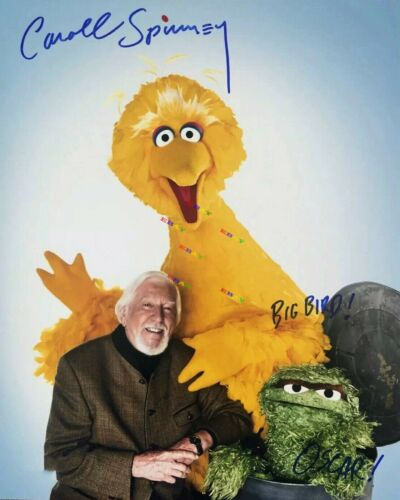 CAROLL SPINNEY  BIG BIRD  Autographed Signed 8x10 Photo Rep