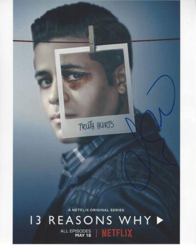CHRISTIAN NAVARRO SIGNED AUTHENTIC '13 REASONS WHY' TONY 8X10 PHOTO B COA ACTOR