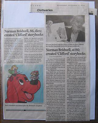 Obituary Boston Globe 12 17 2014 Norman Bridwell 86 Created Clifford Storybook