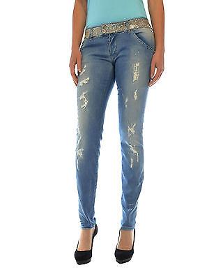 MET jeans linea Diamond cintura con strass vita bassa effetto delavé in PROMO