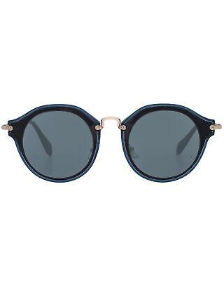 Miu Miu Black And Gray Women's Metal Sunglasses MU51SS-1AB9K1 MSRP $530