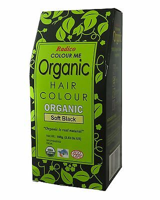 RADICO COLOUR ME ORGANIC NATURAL HAIR COLOUR - SOFT BLACK