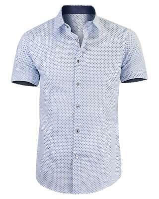 Camicia Uomo Slim Fit Maniche Corte Comfort Cotone Leggero GIROGAMA 2463IT