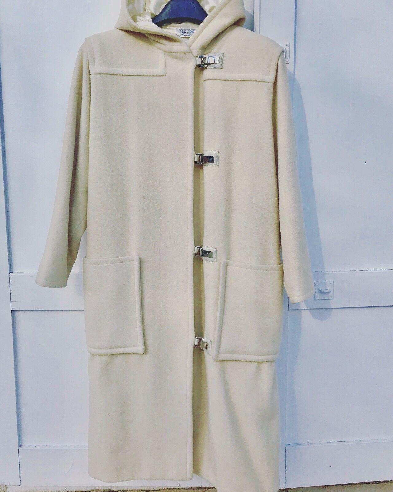 Manteau-duffle coat courreges oversize