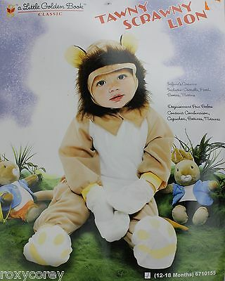 Halloween Infant Toddler Tawny Scrawny Lion Costume Size 12-18 Months NWT