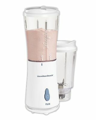 Hamilton Beach Personal Single Serve Blender with 2 Jars and 2 Lids White New