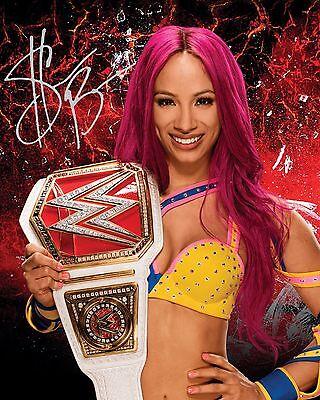 SASHA BANKS #2 (WWE) - 10x8 PRE PRINTED LAB QUALITY PHOTO (SIGNED) (REPRINT)