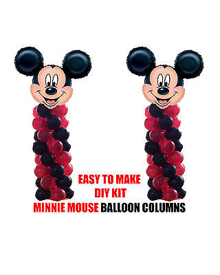 Mickey Mouse BIRTHDAY COLUMN Balloons Decorations Cake Gift Table Clubhouse ](Mickey Mouse Birthday Cake Decorations)