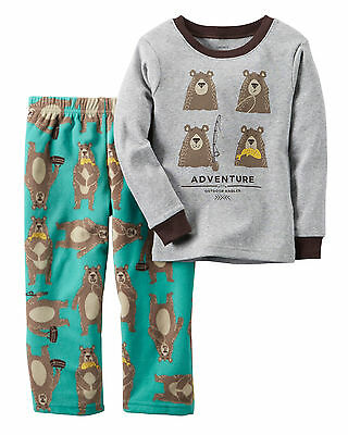 - NWT ☀FLEECE☀ CARTER'S ADVENTURE Boys BEAR Pajamas 5  $32