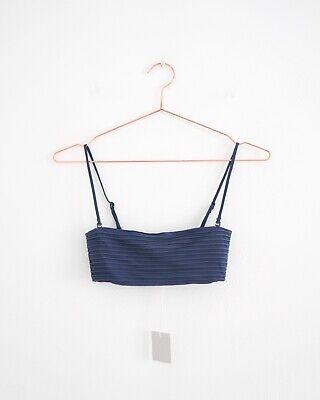 HOF115:COS Bikini-Oberteil gerippt blau / Ripple bikini top blue dark 34 UK 8