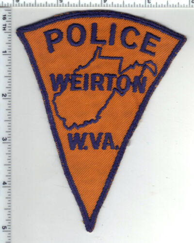 Weirton Police (West Virginia) 1st Issue RARE Shoulder Patch - from the 1970