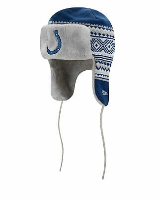 Indianapolis Colts Team ,Trim Trapper Knit Hat NFL One Size, -