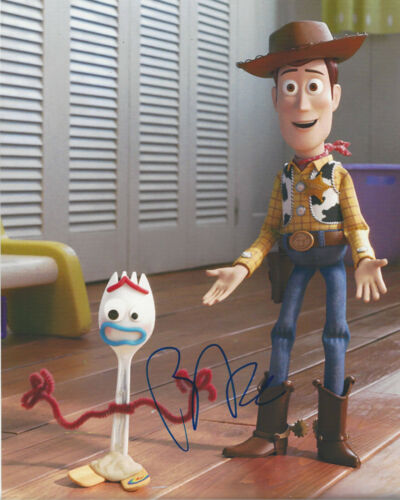 TONY HALE SIGNED AUTHENTIC 'TOY STORY 4' FORKY 8X10 PHOTO ACTOR w/COA