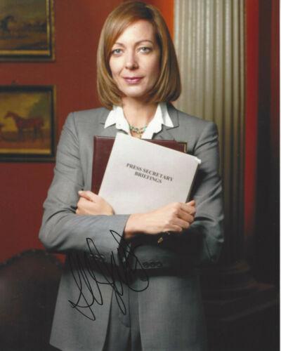 ALLISON JANNEY SIGNED AUTHENTIC 'THE WEST WING' 8X10 PHOTO COA ACTRESS I, TONYA