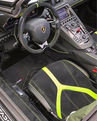 Lamborghini Huracan Performante Floor Mats Alcantara and Carbon Fiber