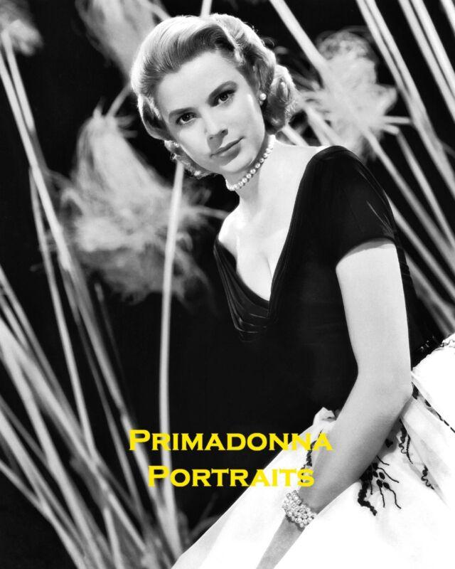 "GRACE KELLY 8x10 Lab Photo SEXY 1953 ""REAR WINDOW"" EDITH HEAD Gown Portrait"