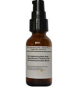 Skin-Lightening-Anti-Aging-Serum-w-Kojic-Acid-Arbutin-Vit-C-Hyaluronic-acid