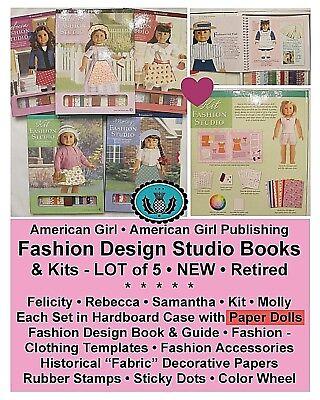 American Girl Historical Fashion Design Studio Paper Dolls Lot Of 5 Books New Ebay