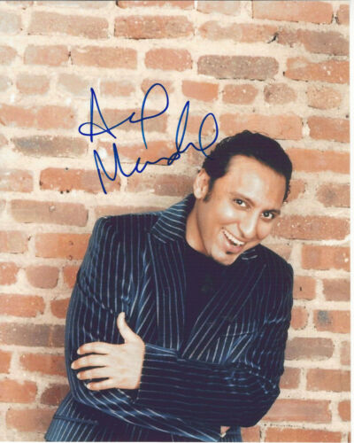 AASIF MANDVI SIGNED AUTHENTIC 'EVIL' 8x10 PHOTO w/COA INDIAN ACTOR TV ER