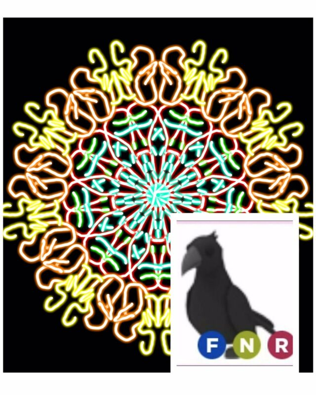 Custom Pic With A FREE Adopt Me Neon F/R Crow (optional)  **READ DESCRIPTION**