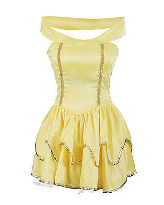Yellow Princes Fancy Dress Ladies Hen Halloween Costume Size 6 8 10 12 14 16 - Ladies Halloween Costumes Size 14-16
