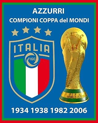 - Italy FIFA World Cup Champions Wall Art Poster, 8x10 Team Photo