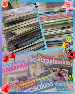 Crafting scrapbook magazines and books