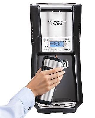 Dispensing Programmable Coffee Maker (Hamilton Beach 12-Cup Coffee Maker, Programmable Brewstation Summit Dispensing )