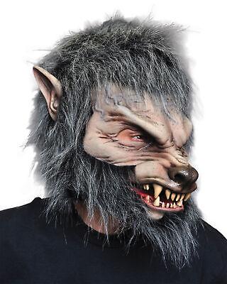 t Bewegliche Mund Latex Werwolf Grau Halloween (Grauer Wolf Maske)