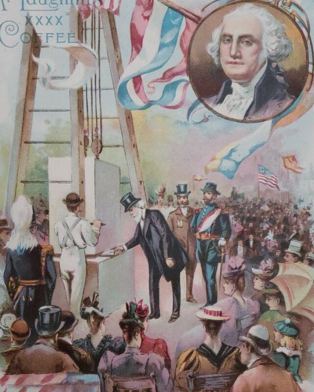 1893 Laying Washington Monument Cornerstone Mclaughlins Americana Photo Set
