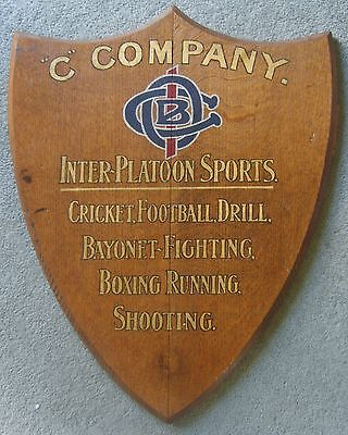WW1 plaque 1st Officer Cadet Battalion awarded to C Company for Bayonet Fighting