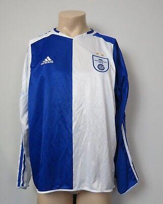 Grasshoppers Zurich 2005-06 l/s home shirt adidas soccer jersey size XL  image
