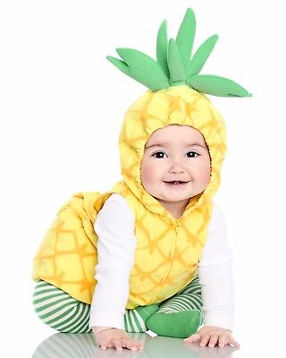 Brand New Carter's Pineapple Baby Halloween Costume Unisex 3pc size 12 Months