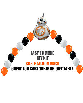 BB8 Star Wars Birthday BALLOON ARCH for Cake Table or Gift Table - Star Balloon Arch