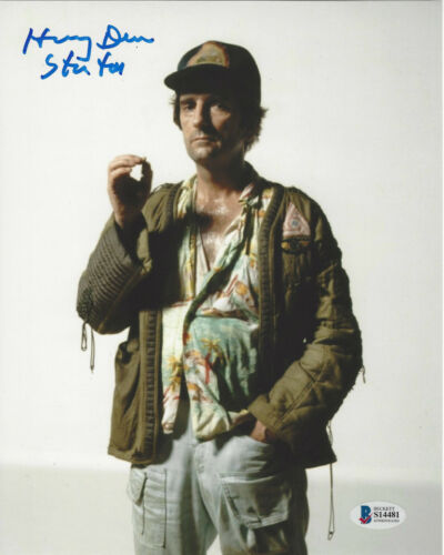 HARRY DEAN STANTON SIGNED AUTHENTIC 'ALIEN' 8X10 PHOTO 3 ACTOR BECKETT COA BAS