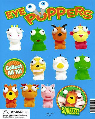 Vending Machine 1.00 Capsule Toys - Animal Eye Poppers Squeeze And Eye Pop