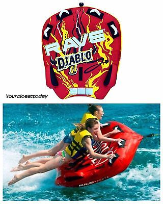 NEW 2 Person Towable Tube Inflatable Float Water Sport Boat Raft Tubing Ski Gift
