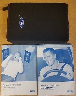 GENUINE FORD MONDEO 2005-2007 HANDBOOK OWNERS MANUAL WALLET PACK E-852