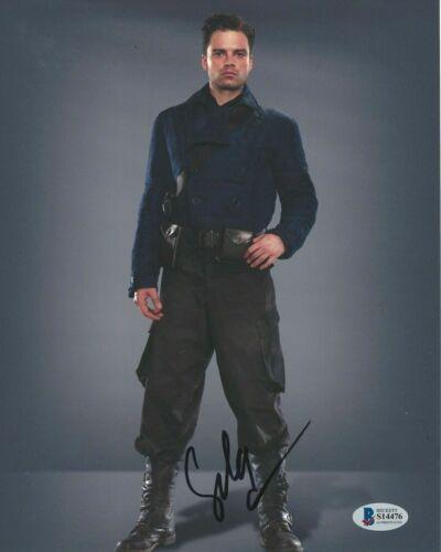 SEBASTIAN STAN SIGNED 'CAPTAIN AMERICA WINTER SOLDIER' 8x10 PHOTO 6 BECKETT COA