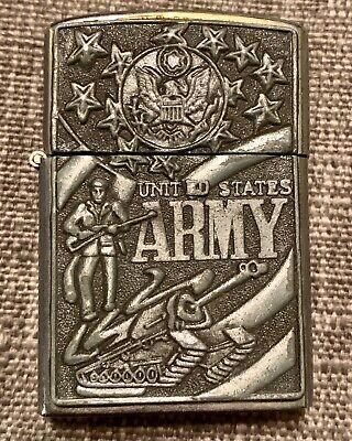 Vintage Zippo Lighter United States Army Original Works