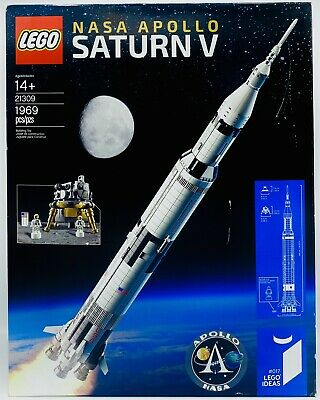 21309 NASA APOLLO SATURN V ROCKET-RETIRED Lego Ideas #017 Factory Sealed 1969 Pc