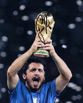 Gennaro Gattuso - Italy - 2006 World Cup Winner - Signed Autograph REPRINT