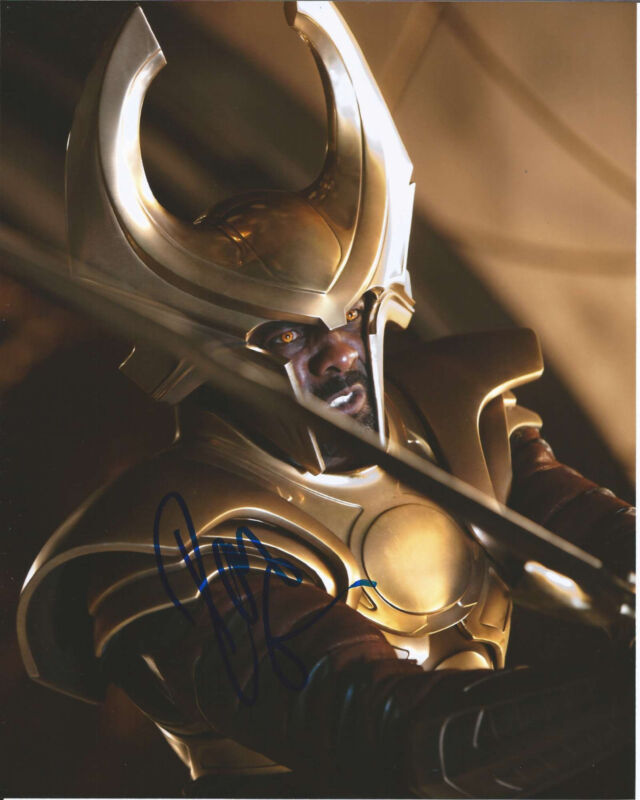 ACTOR IDRIS ELBA HAND SIGNED AUTHENTIC 'THOR' 8X10 PHOTO w/COA LUTHER THE WIRE