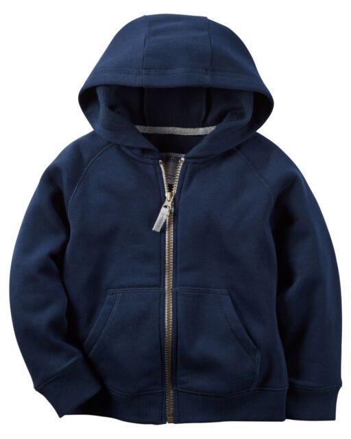 Carters Infant Boys Navy Zip-up Hoodie ZIPPER Hooded Jacket ...