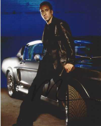 NICOLAS CAGE HAND SIGNED 'GONE IN 60 SECONDS' 8x10 PHOTO w/COA NIC ACTOR PROOF