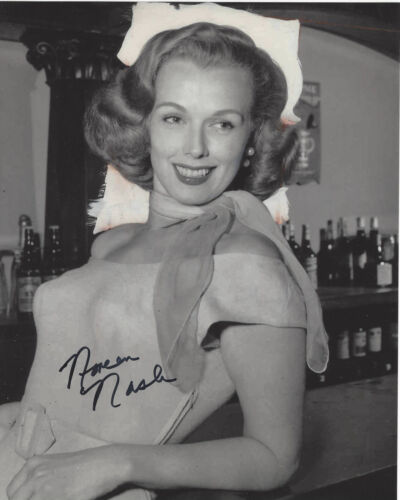 ACTRESS NOREEN NASH SIGNED AUTHENTIC PHANTOM FROM SPACE 8X10 PHOTO D w/COA GIANT