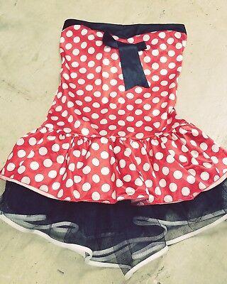 Adult Mini Mouse Costumes (Adult Minnie Mouse Costume Red Black Mini)