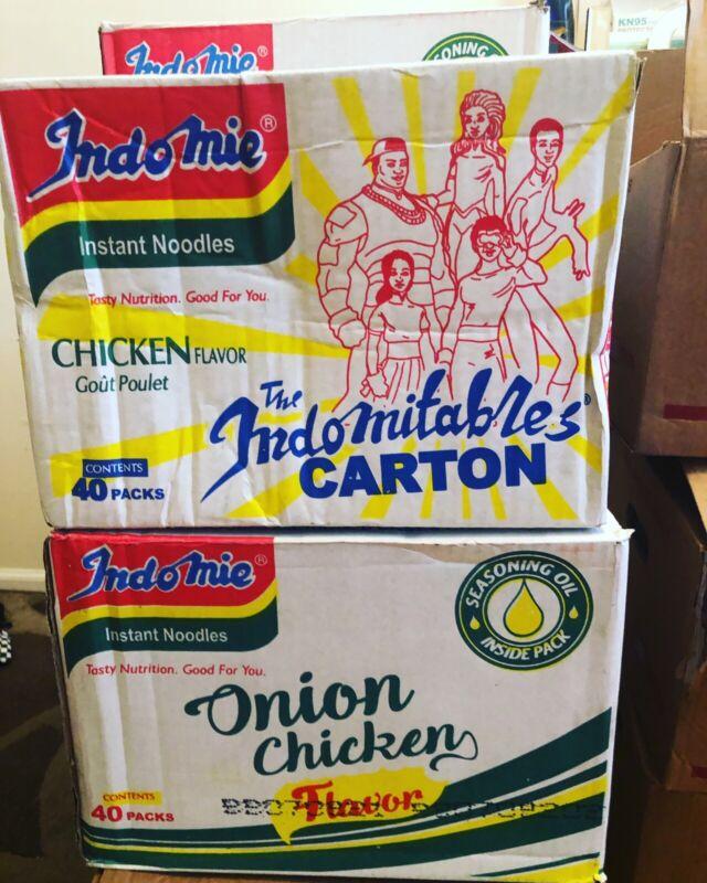 Nigeria INDOMIE  Noodles- Onion Or Chicken Flavor- 40 Packs In A Cartoon.
