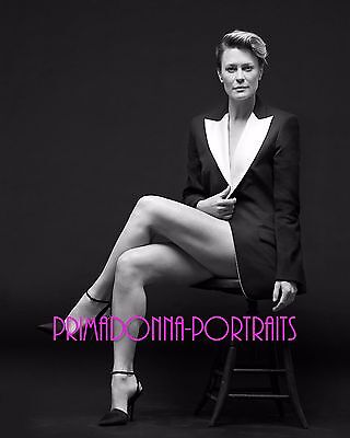 ROBIN WRIGHT 8X10 Lab Photo 2000s Sexy, Leggy High Fashion Glamour Portrait